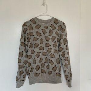Pusheen print crewneck sweatshirt